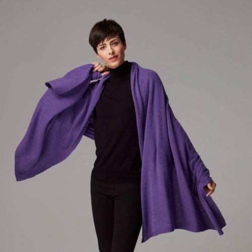 Mulberry Purple Cashmere Wrap