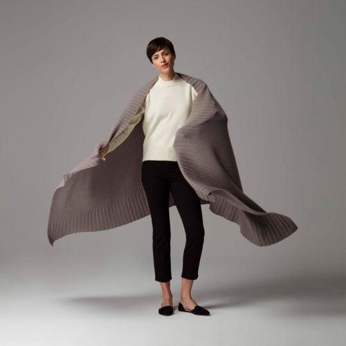 Sophia brown Cashmere Blanket Wrap
