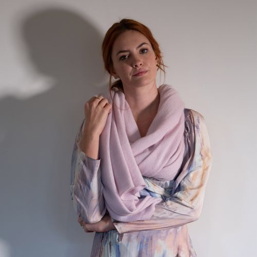 Blossom Baby Pink Cashmere Wrap