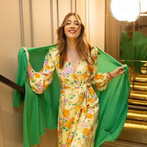 Rumba Green Cashmere Wrap