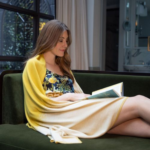 Limone Yellow Merino Wool Wrap