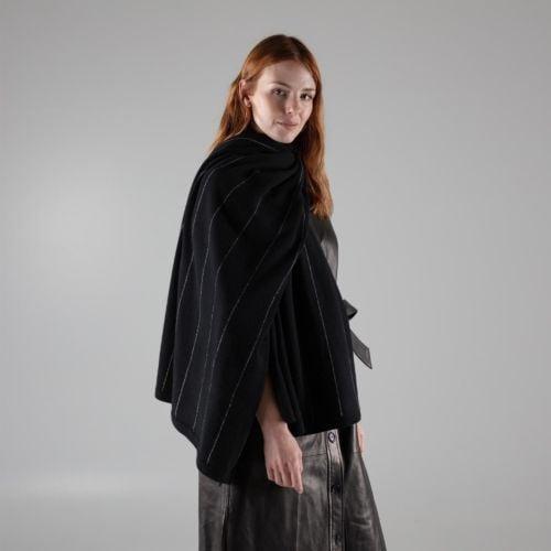 Parallel Noir Black cashmere wrap