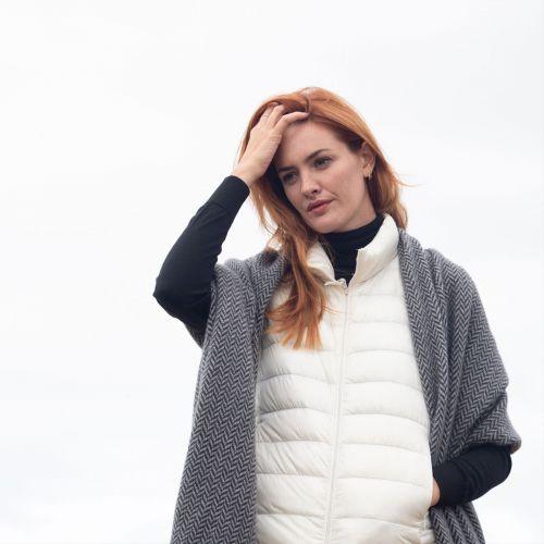 Peregrine Grey Cashmere Wrap