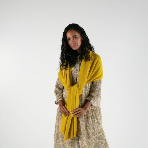 Piccalilli Yellow Cashmere Wrap