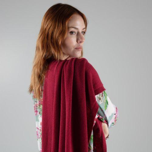 Radicchio Red Cashmere Wrap