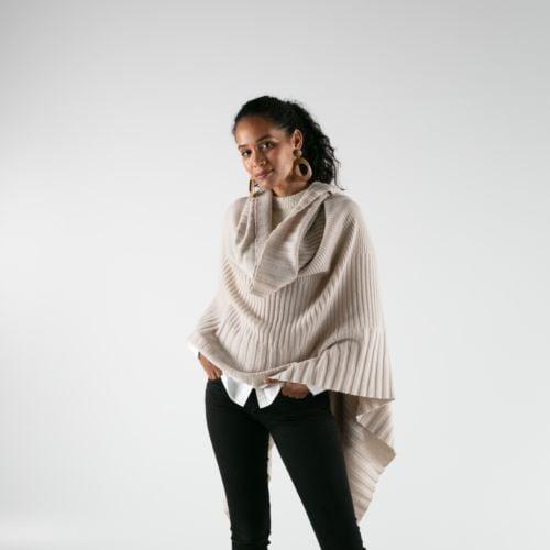 Salt Pale Beige Cashmere Blanket