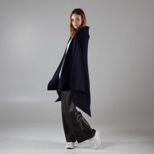 York Navy Blue Cashmere Blanket