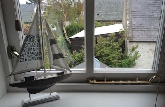 Model boat, Tern Cottage, Findhorn