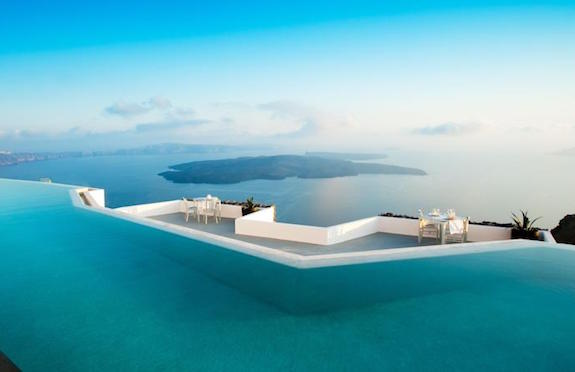 Swimming pool, Hotel Grace Santorini