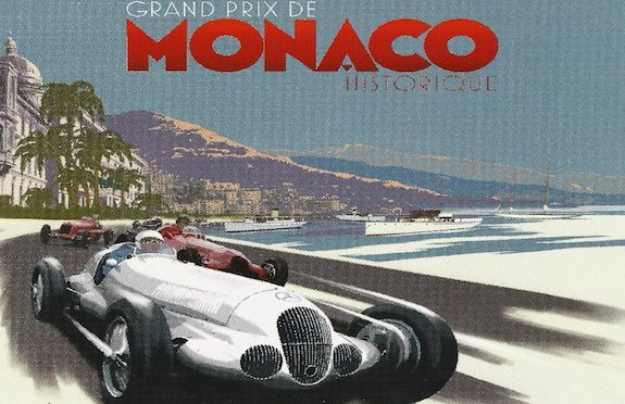 Vintage poster for the Grand Prix de Monaco
