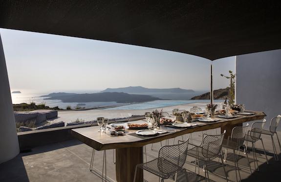 Dining terrace, Erosantorini