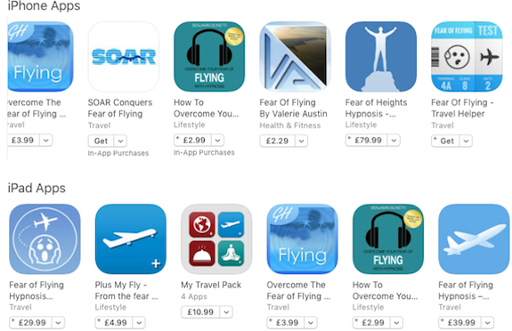 Fear of flying apps