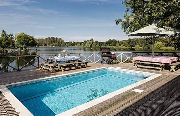 Four luxury log cabins for Luxury cottages with swimming pools in uk