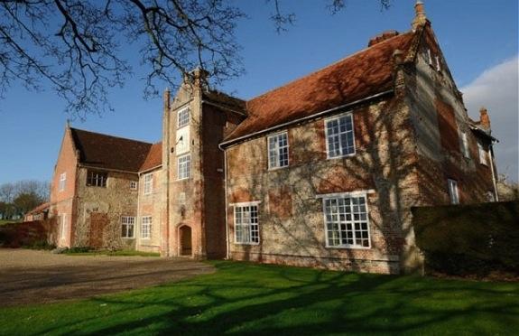 Exterior of Bruisyard Hall, Suffolk