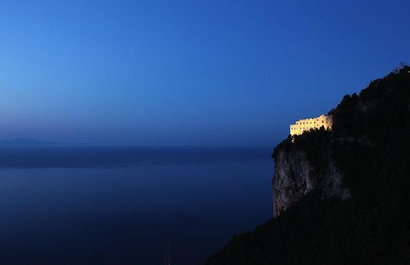 Monastero Santa Rosa on cliff tops, Amalfi Coast