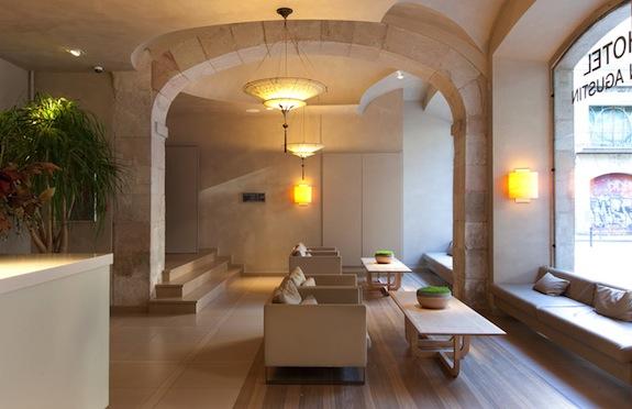 Reception area, Hotel Sant Agusti, Barcelona