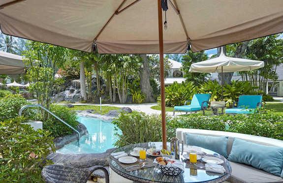 The Colony Club pool room, Barbados