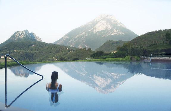 pool at Lefay SPA, Lake Garda