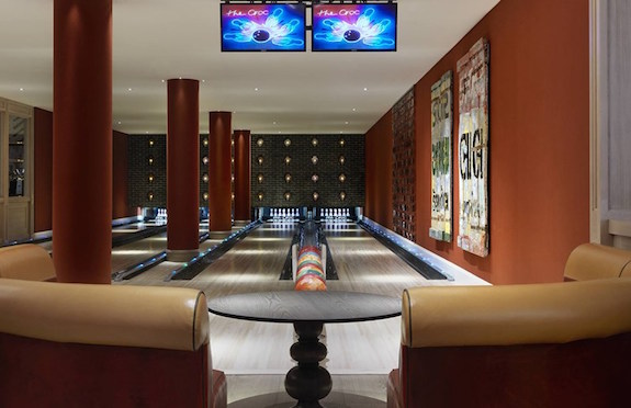 Bowling Alley, Ham Yard Hotel, London