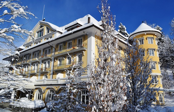 Snowy exterior, Le Grand Bellevue, Gstaad