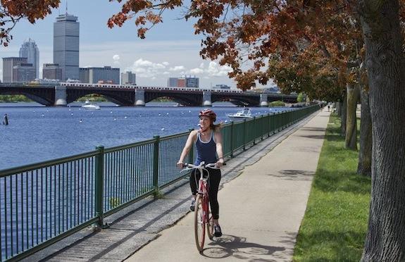 Girl on a Kimpton bike in Boston