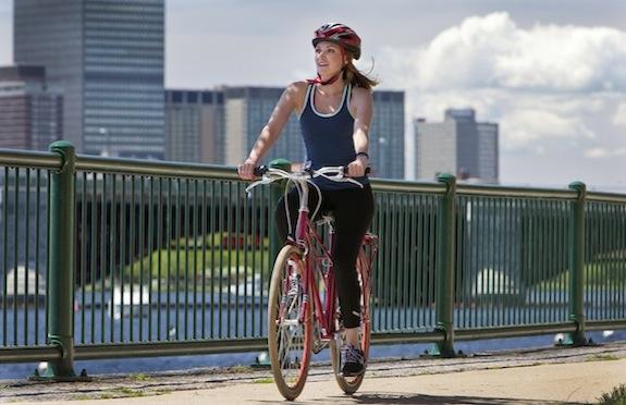 Girl on Kimpton bike in Boston
