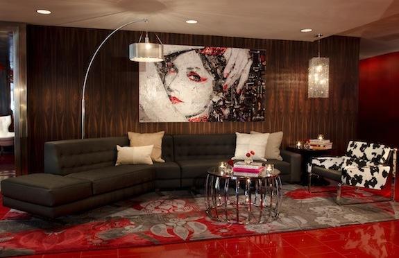 Lounge area, Hotel Rouge, Washington, DC
