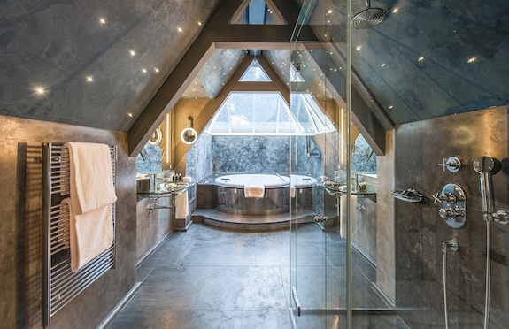 Guest bathroom, Le Grand Belleville, Gstaad