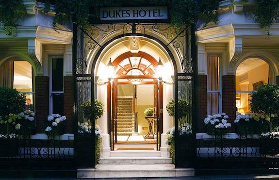 Entrance, Dukes hotel, London