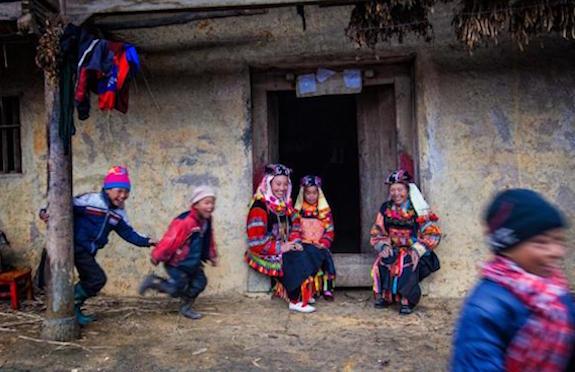 Hill tribe village, Vietnam