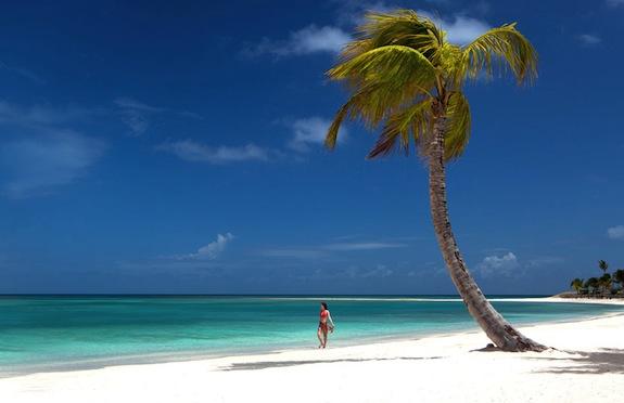 Beach, Jumby Bay, Antigua