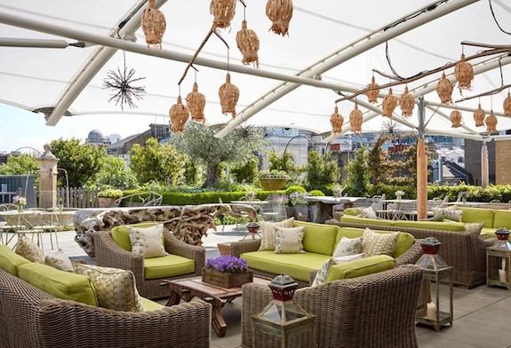 Roof garden, Ham Yard Hotel