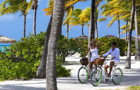Cycling, Jumby Bay, Antigua