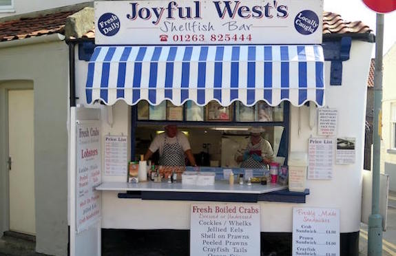 Joyful West's Shellfish Bar, Sheringham, Norfolk