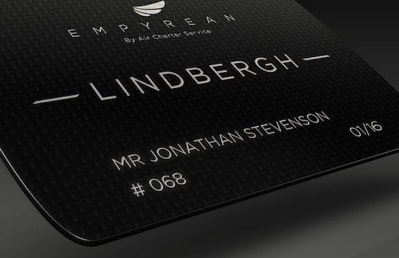 Lindbergh Card, Air Charter Service