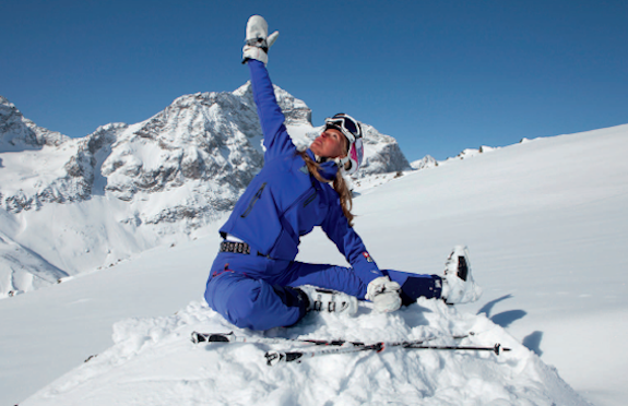 Yoga on Snow, St Moritz