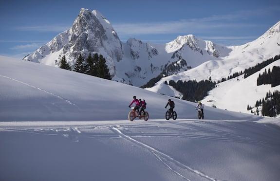Snow biking, Gstaad
