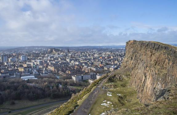 Edinburgh skyline seen from Salisbury Crags, VisitScotland