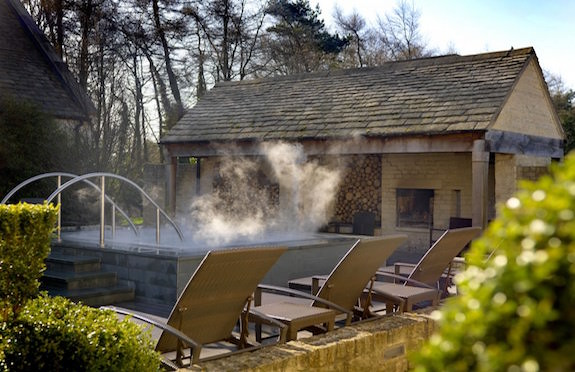 Hot tub, Calcot Manor, Gloucestershire