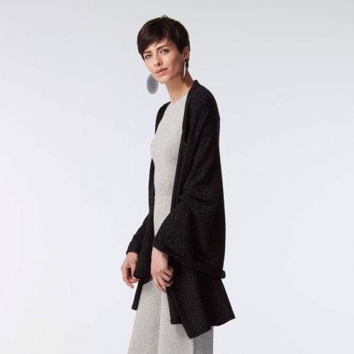 Black shimmer cashmere wrap