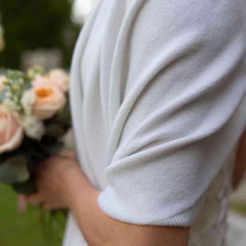 Aria White Cashmere Wrap