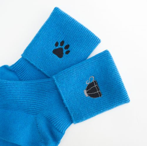 Electric Blue Cashmere Socks