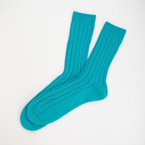 Mens Turquoise Cashmere Socks