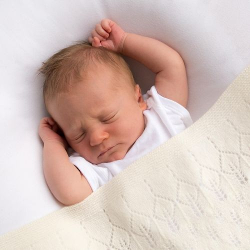 Childrens Cygnet Baby Scottish cashmere shawl