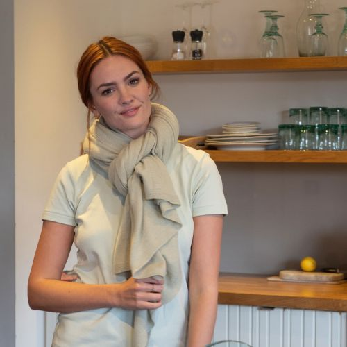 Sage green cashmere wrap