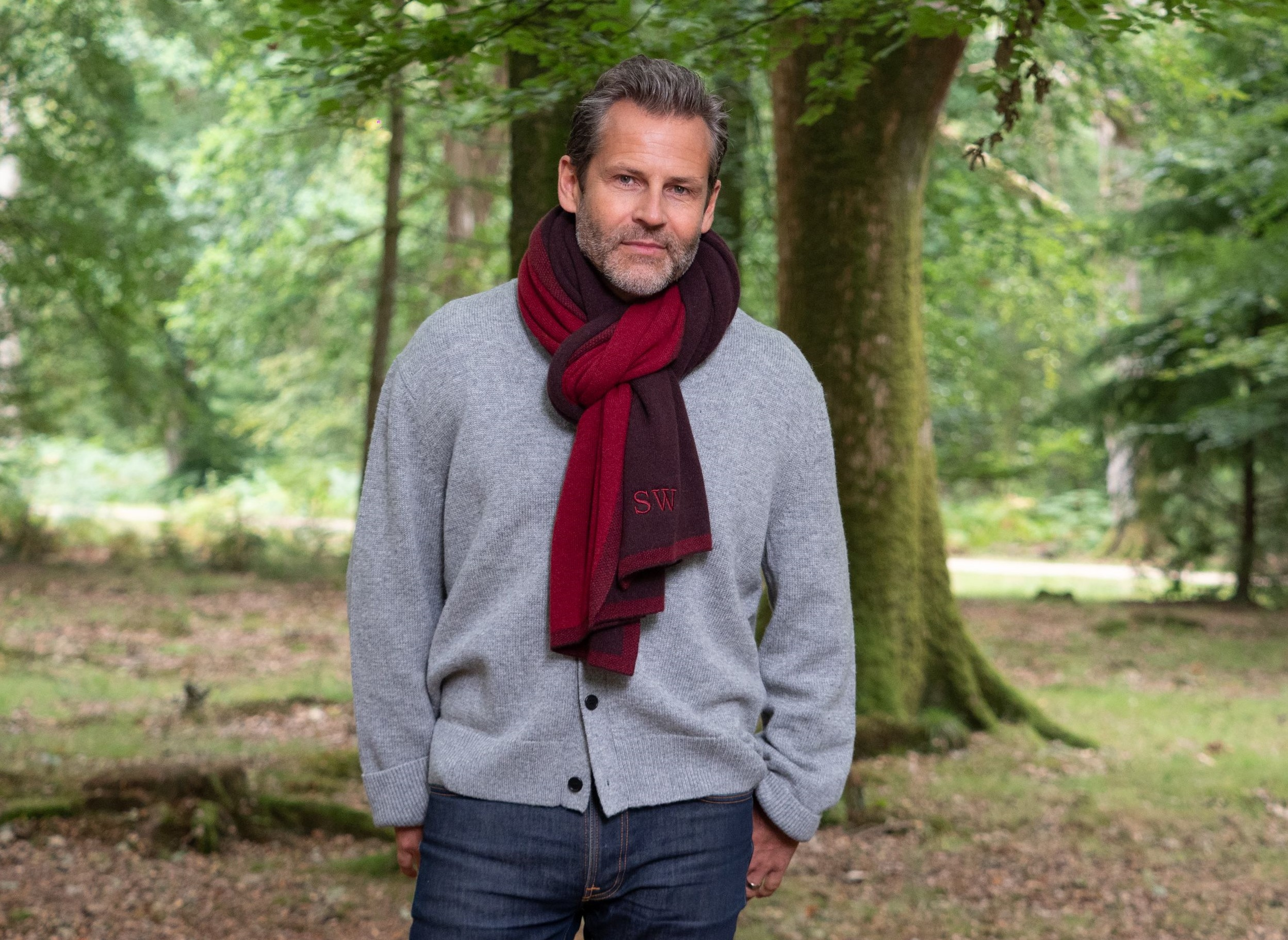 How To Wear A Men's Blanket Scarf Image