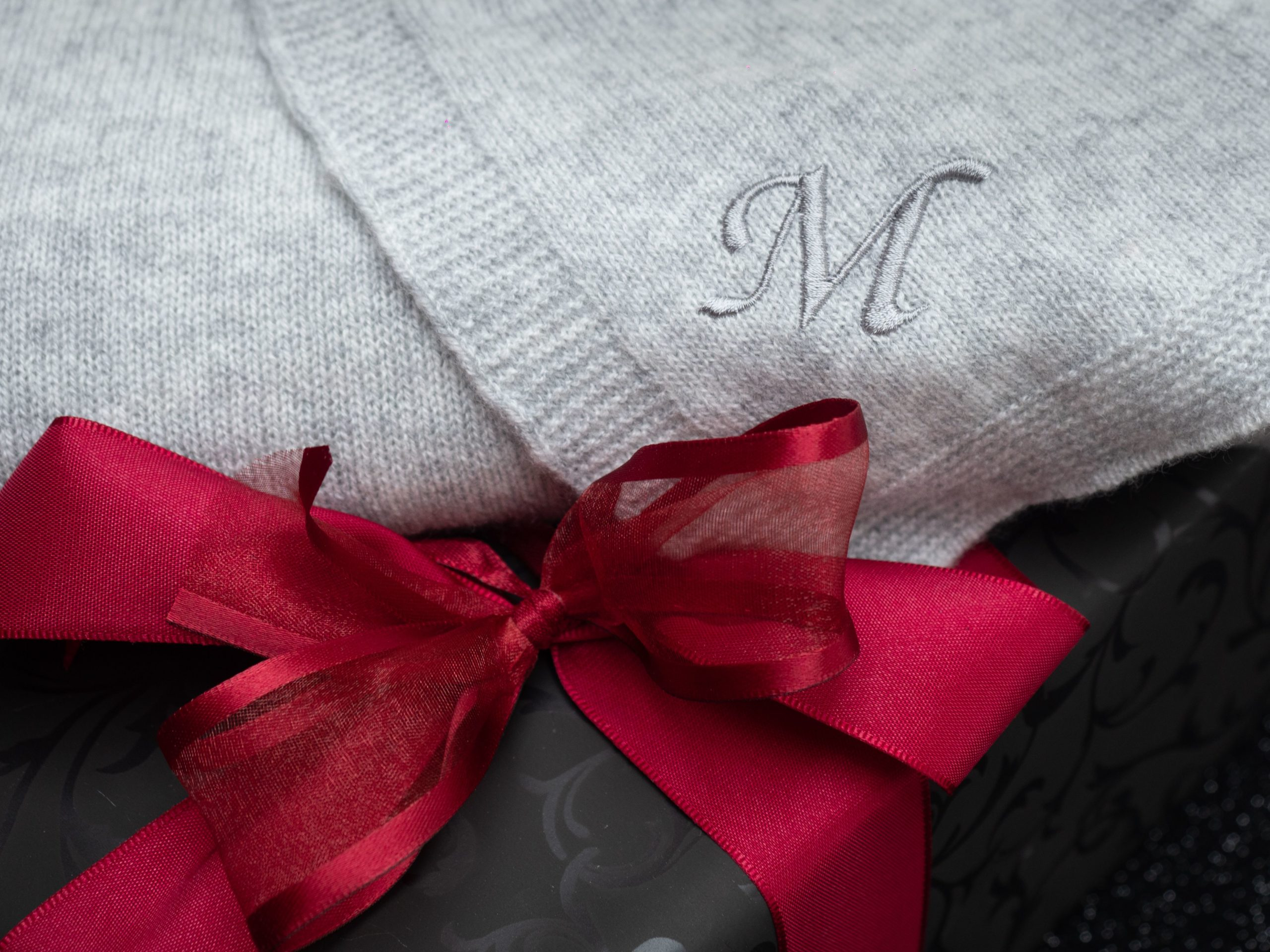 How To Monogram Your Cashmere Wrap Image